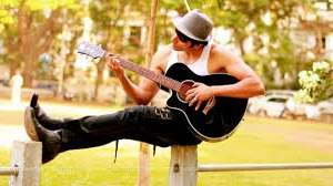 guitar playing acoustic