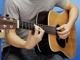 strumming along to guitar